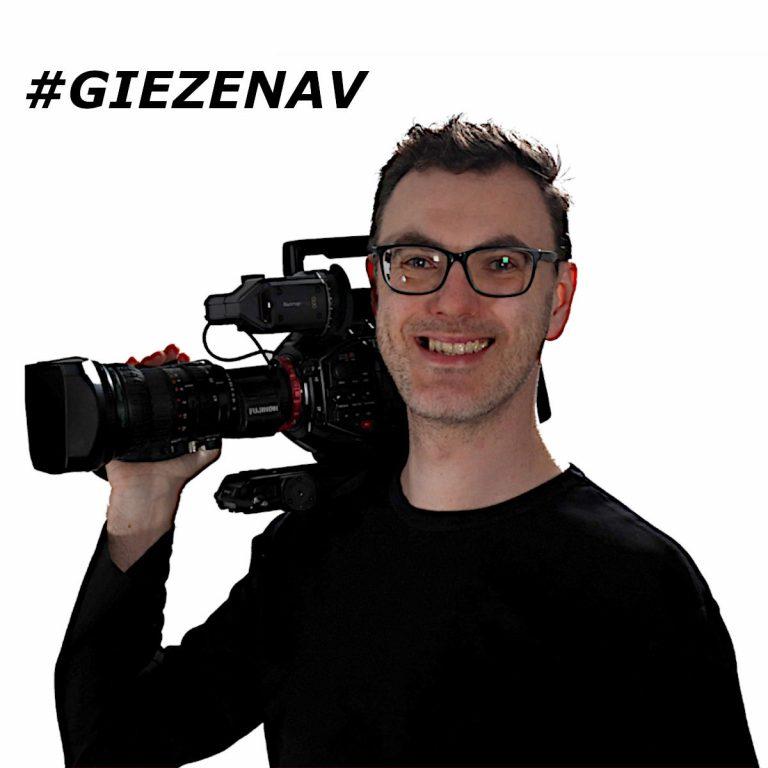Paul Giezen met camera op schouder GIEZENAV Den Bosch Video Website